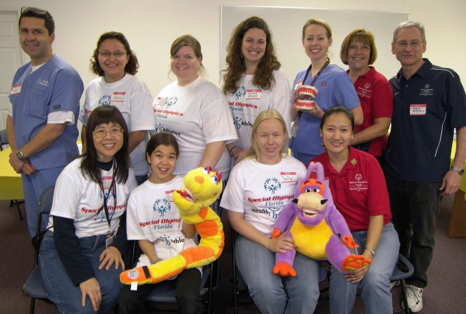 UF COD Volunteers at the 2008 Special Olympics in Lake City, Fla.
