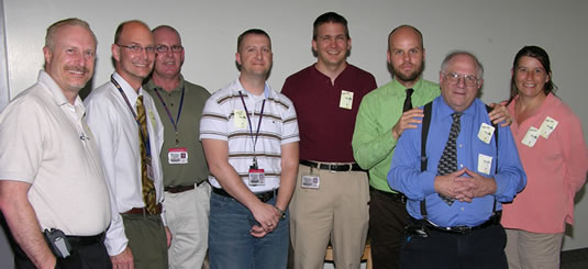 Sam with members of the IT Department