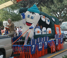 The Mighty Molar at the Homecoming parade.