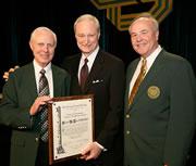 From left: Gordon Christensen, Sam Low and CDS President Michael Stablein