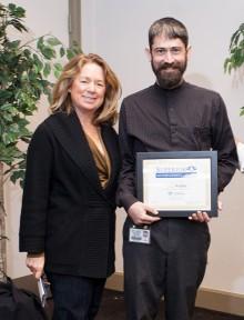 Weber, right, with Dr. Teresa A. Dolan