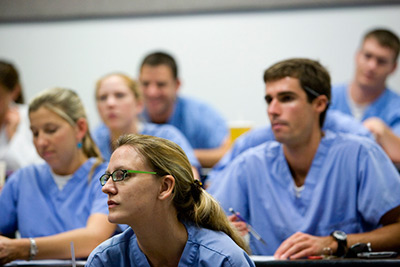 dental students in classroom