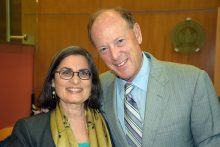 Dean Isabel Garcia, left, and Dr. David Guzick