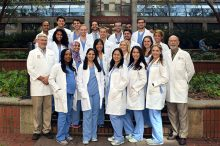 Members of the DMD class of 2017 and their faculty team leaders from Clinical Care Group Two.